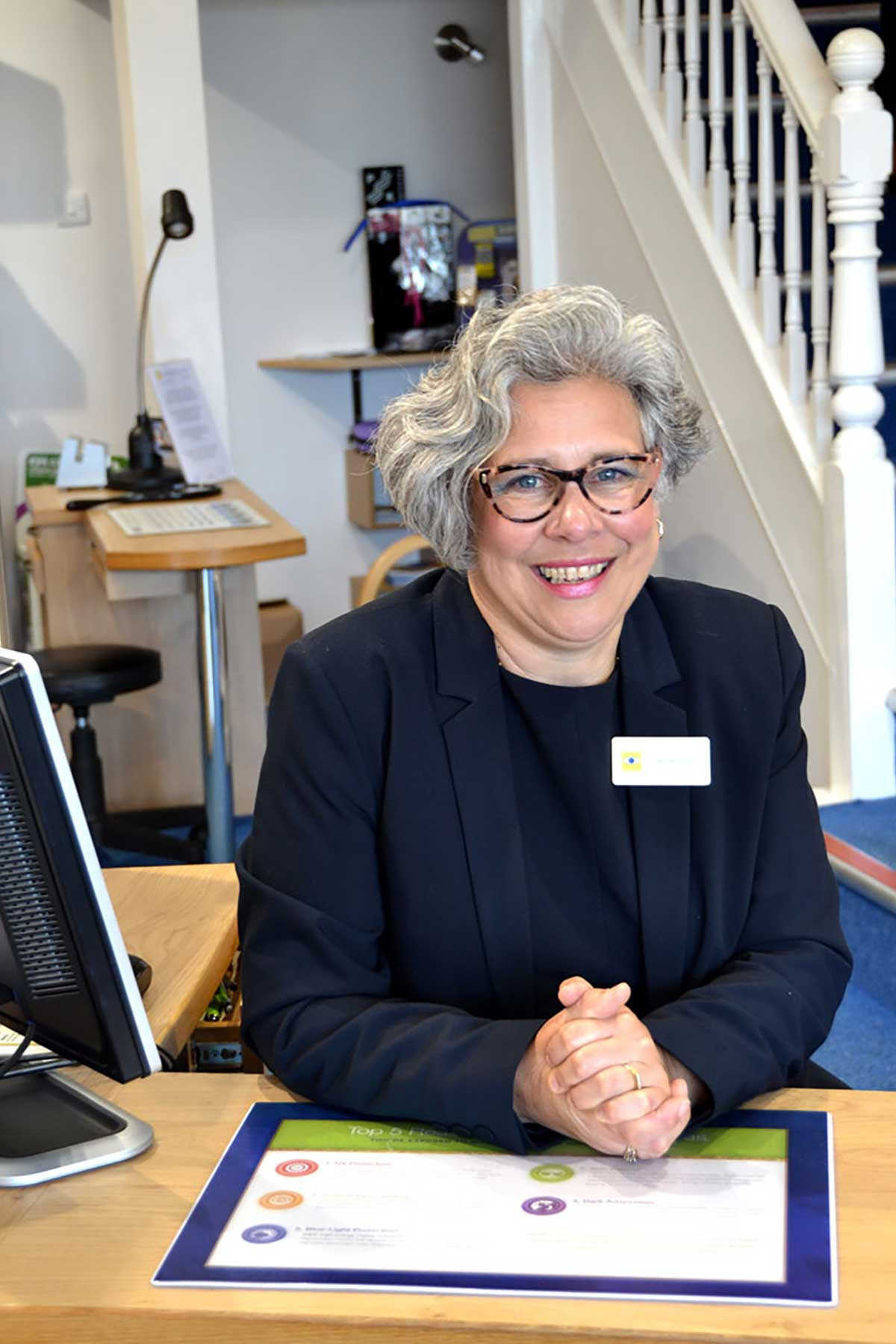 Anthea Goddard FBDO, Prof Cert LV, SMC (Tech), Dispensing Optician