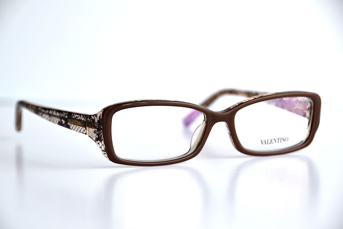 Valentino Frames Brown/Black Lace